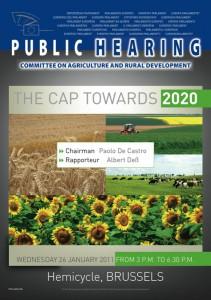EP Hearing The CAP towards 2020