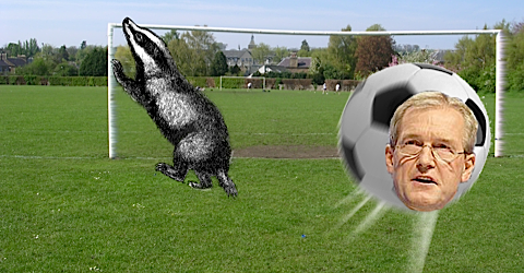 "UK farm minister accuses badgers of ""moving the goalposts"""