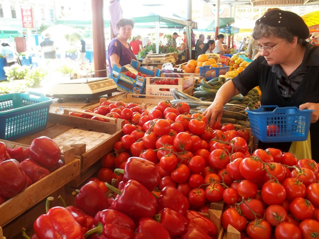 Photo (c) Dana Cizmas taken at a farmers' market in  Arad, Romania (her hometown)