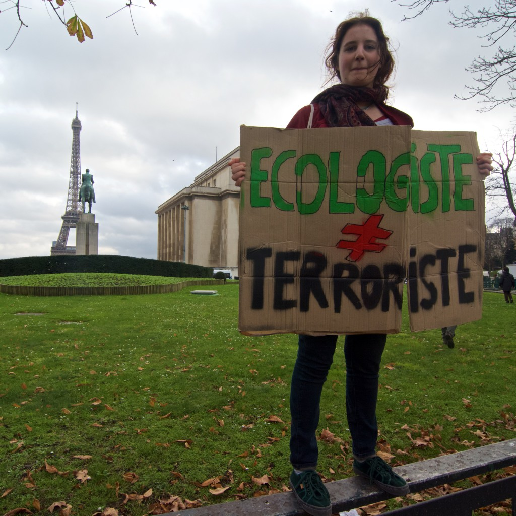 Stop Climate Chaos trip to Paris ecologist not terrorist (c) Eoin Campbell