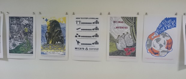 (c) posters in the Jardin oliver moore