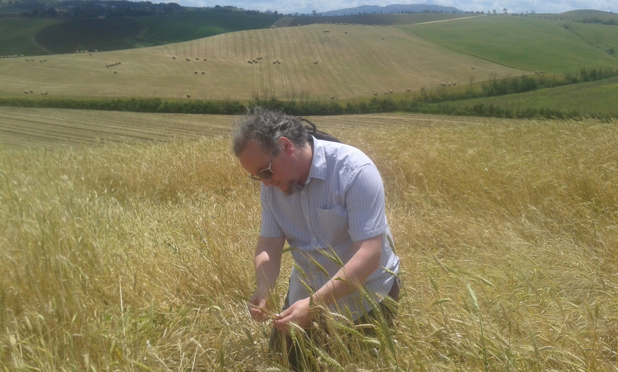 Oliver Moore of ARC2020 on Floriddia farm Italy
