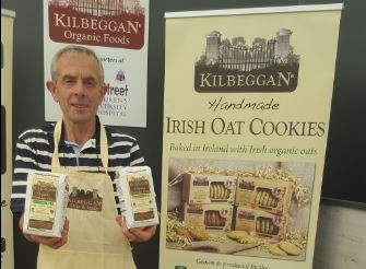 Pat Lalor with his oats and other farm produce (c) Pat Lalor