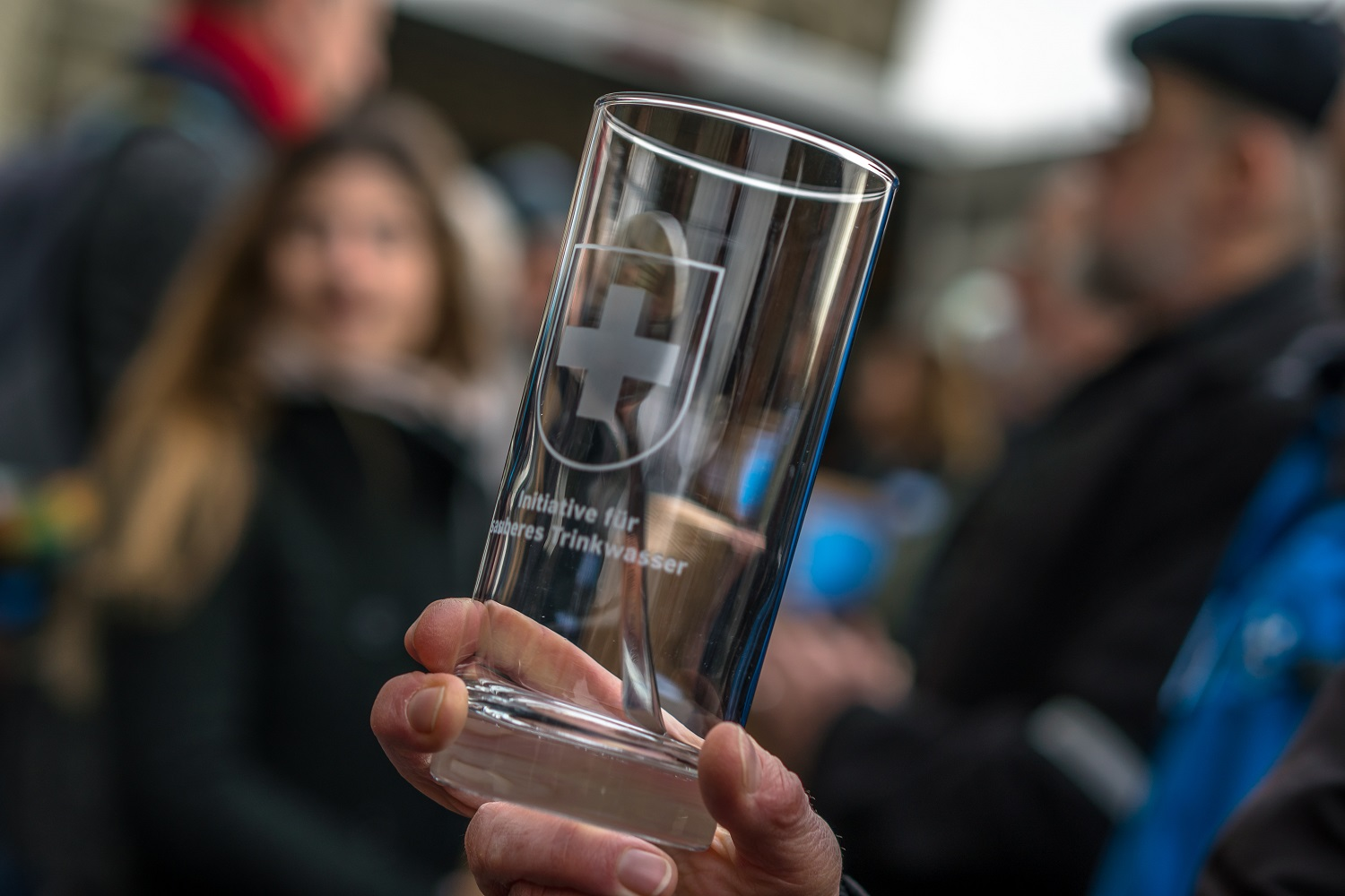 the Clean Drinking Water Initiative glass
