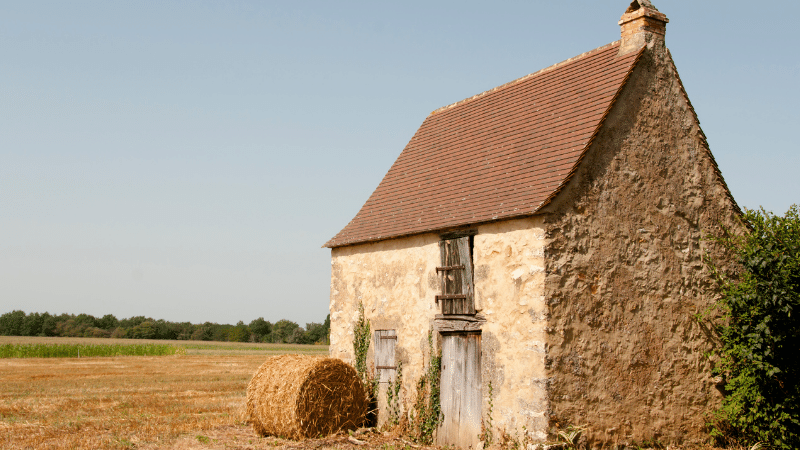 A farm barn in France